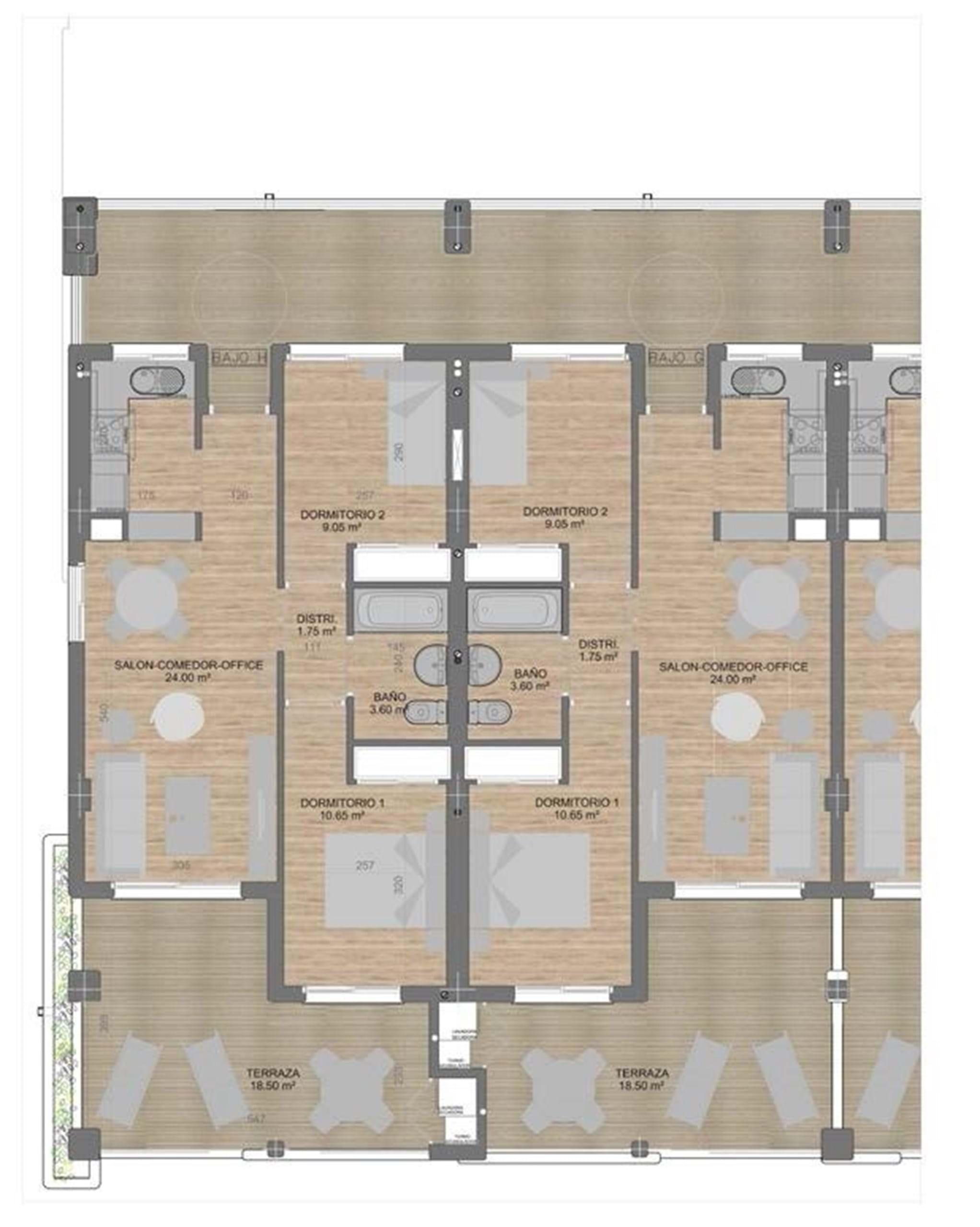 Lägenheter plan 2-3